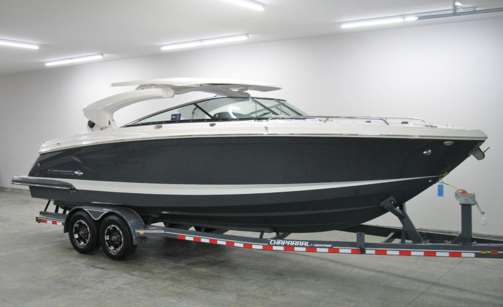 Chaparral 287 SSX Electric Hardtop Folded Down